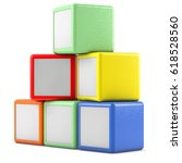 boxes isolated on white 3d... | Shutterstock . vector #618528560