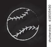 baseball blackboard hand drawn... | Shutterstock .eps vector #618535430