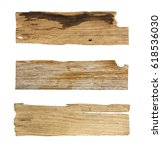 old wooden planks isolated... | Shutterstock . vector #618536030