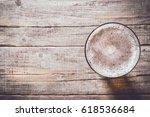 glass of beer. top view | Shutterstock . vector #618536684