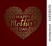 happy mothers day greeting card ... | Shutterstock .eps vector #618538100