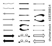 vector arrows. vector set of... | Shutterstock .eps vector #618538814
