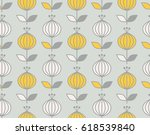 seamless retro pattern with... | Shutterstock .eps vector #618539840