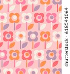 seamless retro pattern with... | Shutterstock .eps vector #618541064
