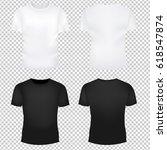 t shirt template set gradient... | Shutterstock .eps vector #618547874
