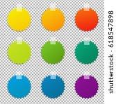 color labels set  vector... | Shutterstock .eps vector #618547898