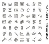 vector outline icon collection  ... | Shutterstock .eps vector #618549143