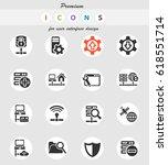 server web icons for user... | Shutterstock .eps vector #618551714