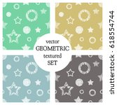 set of seamless vector... | Shutterstock .eps vector #618554744