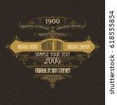 vintage typographic label... | Shutterstock .eps vector #618555854