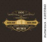 vintage typographic label... | Shutterstock .eps vector #618555860