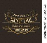 vintage typographic label... | Shutterstock .eps vector #618555863