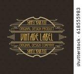 vintage typographic label... | Shutterstock .eps vector #618555983