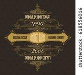 vintage typographic label... | Shutterstock .eps vector #618556016