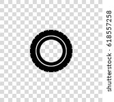 car tire vector icon | Shutterstock .eps vector #618557258