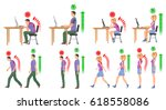 man and woman in correct and...   Shutterstock .eps vector #618558086