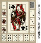 playing cards of clubs suit in... | Shutterstock . vector #618558848