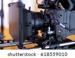 camera for shooting feature... | Shutterstock . vector #618559010