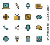 vector flat communication icons ... | Shutterstock .eps vector #618561884