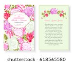 vintage floral background... | Shutterstock .eps vector #618565580