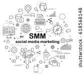 social media marketing  ... | Shutterstock .eps vector #618568148