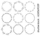 set of 9 black hand drawn... | Shutterstock .eps vector #618569339
