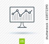 statistic diagram line vector...   Shutterstock .eps vector #618572390