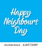 happy neighbours day  text... | Shutterstock .eps vector #618573089