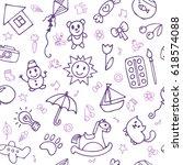 seamless pattern for cute...   Shutterstock .eps vector #618574088