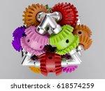 3d rendering gear assembly... | Shutterstock . vector #618574259