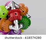 3d rendering gear assembly... | Shutterstock . vector #618574280
