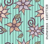 vector hand drawn floral... | Shutterstock .eps vector #618577328