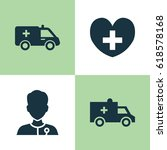 medicine icons set. collection... | Shutterstock .eps vector #618578168