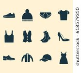 clothes icons set. collection... | Shutterstock .eps vector #618579350