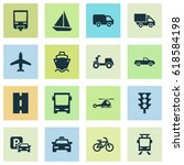 transport icons set. collection ... | Shutterstock .eps vector #618584198
