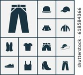 clothes icons set. collection... | Shutterstock .eps vector #618584366
