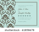 vector floral background and... | Shutterstock .eps vector #61858678