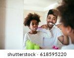 portrait of happy african... | Shutterstock . vector #618595220