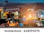 industrial logistics and... | Shutterstock . vector #618595370