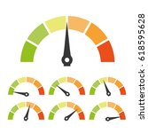 Speed Metering Or Rating Icon....