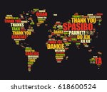 thank you in many languages... | Shutterstock .eps vector #618600524