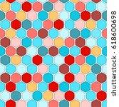 honeycomb seamless pattern.... | Shutterstock . vector #618600698