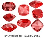 set of red ruby gems isolated... | Shutterstock . vector #618601463