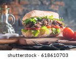 Beef Sandwich With Tomato And...