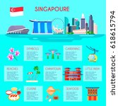 colored singapore culture... | Shutterstock .eps vector #618615794
