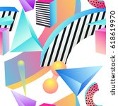 seamless primitive patterns of... | Shutterstock .eps vector #618619970