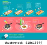 cooking infographic isometric... | Shutterstock .eps vector #618619994