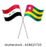 iraqi and togolese crossed... | Shutterstock .eps vector #618621710