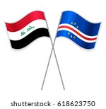 iraqi and cabo verdean crossed... | Shutterstock .eps vector #618623750