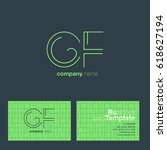 cf  c f  c   f letters joint...   Shutterstock .eps vector #618627194